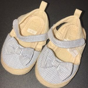 Carter's Baby Girl Shoes Blue & White Stripes